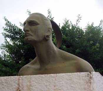 But of Hatuey in Cuba where he had gone to warn of the Spanish conquest
