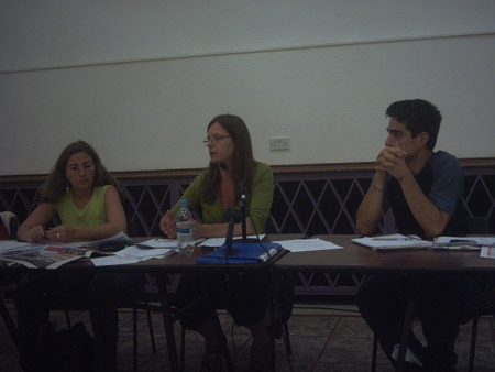 Argentina Solidarity Campaign discussion panel.