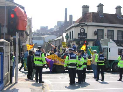 Gardai & Marchers - Usher's Island - 14:30 May 1st