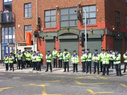 Gardai - Ellis Quay - 14:30 May 1st