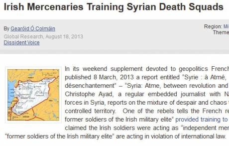 Irish Mercenaries Training Syrian Death Squads