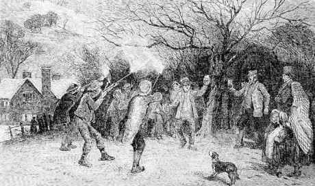 Wassailing the apple tree