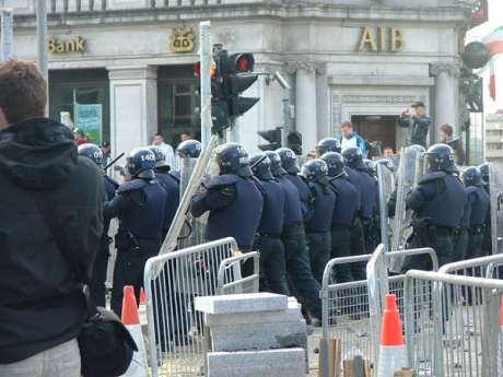 Heavy Fighting Breaks Out as Crowd Resist Riot Police Advances
