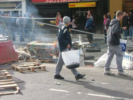 Bizzarely Shopping Continues Through the Riots
