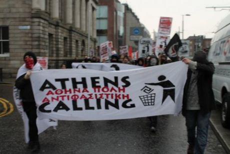 Marching from Stephens Green 1