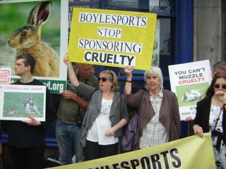 Campaign commencing against sponsorship of vile hare coursing cruelty