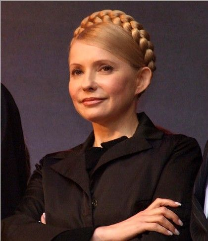 stock picture of Tymoshenko in happier days. She looks so angelic!