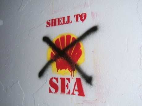 Does that Shell logo look funny?