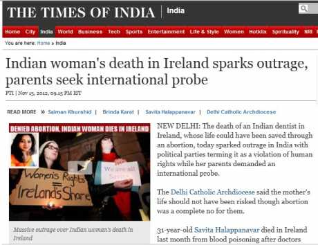 Reaction to news of the death in India - The Times of India