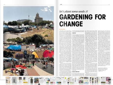 Deepening the debate; anti capitalist revolution > planting urban food gardens > local money > resilient communities