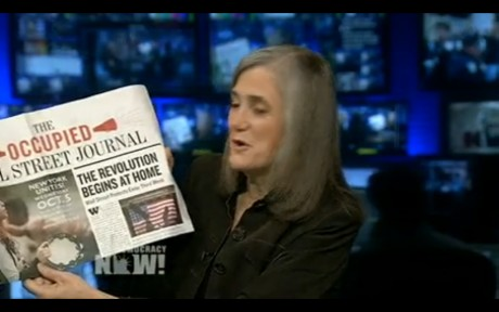 Amy Goodman shows of the OCCUPIED WALL STREET JOURNAL on Democracy Now
